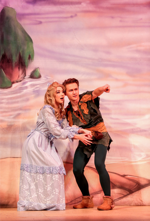 "Audrey Whitby and Riley Costello in Lythgoe Family Panto's PETER PAN AND TINKER BELL â€"" A PIRATES CHRISTMAS. Photo credit: Cathy Cunningham Photography."